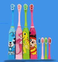 ultrason hediyeler toptan satış-Yaratıcı Yıkama Hediye Çocuk Elektrikli Diş Fırçası Taşınabilir Ultrason Kuru Pil Yumuşak Karikatür Diş Fırçası moda lüks tasarımcı hotsale