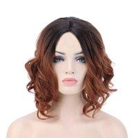 doğal renk brezilya kıvırcık saç toptan satış-Doğal Renk Saç Peruk Vizon Brezilya Saç Kadın Kıvırcık Dantel Peruk Tam Dantel Siyah Için Brezilyalı Malezya Remy Saç Ön Peruk