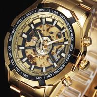 marca de relojes forsining al por mayor-Al por mayor-Forsining Top Brand Reloj de lujo Hombres Relojes deportivos Relojes de moda para hombres Reloj mecánico automático Caja esqueleto
