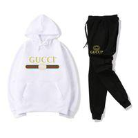 kadınlar için hoodie kılıfı toptan satış-8GUCCIErkek Eşofman spor Hoodie + pantolon Setleri Eşofman deportivo Kadınlar Sportanzug Spor Hoodie Rahat Jogging Yapan Takım