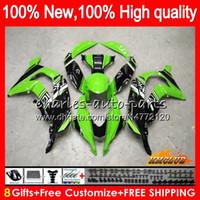 Wholesale zx ninja for sale - Group buy Injection Fit For KAWASAKI ZX R CC ZX10R HC ZX1000 ZX R ZX ZX R OEM green black Fairings