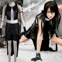 фэнтезийный мужской костюм оптовых-Final Fantasy XIII FF13 Тифа Локхарт Косплей Outfit Комплекты Хэллоуин костюмы для женщин / мужчин взрослого может на заказ
