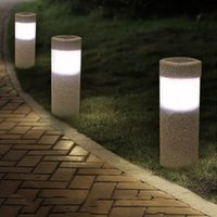 chorro de arena al por mayor-Sand-blasting 3W Solar Lawn Light Outdoor Waterproof LED White Light Garden Landscape Yard Lawn Path Lamp