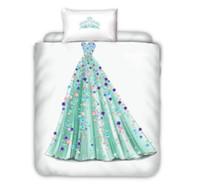 Wholesale princess beds for girls for sale - Group buy Princess Dress Bedding Sets For Kids Girls Boys Crown Single Bed Duvet Cover Set Bedclothes Bed Linen No Sheet No Filling