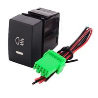 interruptor de niebla 12v al por mayor-Interruptor basculante FOG Lights 20A 12V Interruptor de palanca LED de encendido / apagado para Honda Civic Accord XR-V