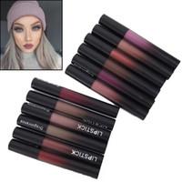 korean waterproof lipstick venda por atacado-Maquiagem profissional de veludo Batom Nude Lip gloss Batom Líquido À Prova D 'Água de Longa Duração Conjunto de Batom Preto Cosméticos Coreano