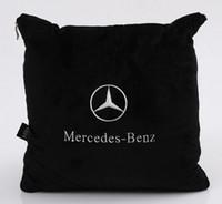 quilts kissen großhandel-1 stücke auto sitzkissen rückenlehne quilt komfort Mercedes-benz kissen LOGO