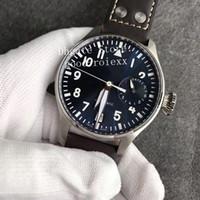 мужские наручные часы оптовых-Мужская Limited Edition Автоматическое движение Cal.51111 Часы Темно-синий Циферблат Светящиеся Спортивные Мужские Часы ZF Кожаный Завод Eta Наручные часы