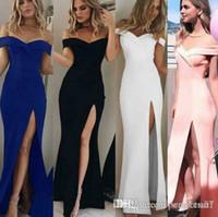 fotos vestidos de festa venda por atacado-2000 # 5 cor s-3xl das mulheres bandeau dividir o vestido de noite longo partido vestido de baile vestido de casamento formal