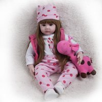 Wholesale big inflatable dolls for sale - Group buy 60cm Big Silicone Reborn Baby Doll Princess Girl Playmate Adorable alive dolls Soft Toy For Bebes Reborn dolls Birthday