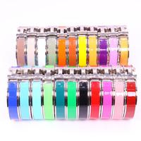 mücevher harfi h toptan satış-HB sıcak satmak Paslanmaz çelik H mektup moda takı bileklik üç renk seçin