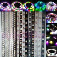 led bande individuelle achat en gros de-5V SK6812 (WS2812B) Ruban de lumière de bande flexible en pixel 5050 RGBW RGBWW LED