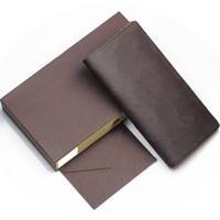 Wholesale wallet cell phone compartment online – custom Leather Women Wallet Female Long Clutch Lady Walet Portomonee Rfid designer wallet Men Money Bag Zipper Coin Purse With Box
