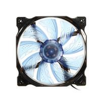 ventilador de refrigeración para procesador de portátil al por mayor-Freeshipping 3-pin / 4-pin PWM control 120mm 1000 RPM LED Ventilador de PC CPU Cooling Case Black