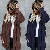 ingrosso giacca invernale delle donne due fianchi-Della donna lana misto giacca stile caldo lungo due lati di lana del cappotto anti-pelliccia caldo cotone imbottito vestiti delle donne cappotti invernali