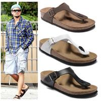 homens cortiça chinelos venda por atacado-NOVOS Flip Flops Verão Cortiça Chinelo Tamancos sandálias para homens e mulheres de praia de luxo casal chinelos Mayari 35-44