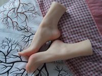 Wholesale sold silicone mannequin resale online - Free Shiiping Factory Direct Sell Realistic Life Size Sex Doll Japanese Silicone Mannequin Foot For Shoes Socks Anklets Display