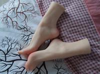 muñecas del sexo de silicona de tamaño natural japonés al por mayor-Shiiping Factory Venta directa Realista de tamaño natural Sex Doll Japonés Maniquí de silicona Pie Para zapatos / Calcetines / Tobilleras Display