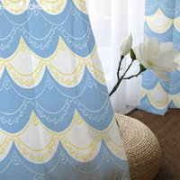 White Tulle Curtains On the Windows for Living Room Kids and Adults Bedroom  Decoration Lace Print Tulle Curtains Sheer Drape New