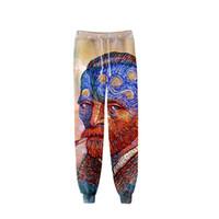 mulher de roupa romana venda por atacado-A Mona Lisa Van Gogh Calças Art Calças O Renascimento pintura a óleo Artista Homens Mulheres Calças Elástico pan Roman roupas quentes