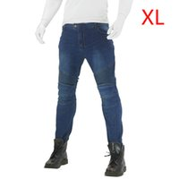Wholesale racing trousers for sale - Group buy Women Pants knee pads Comfortable Anti Fall Motorcycle Denim Trousers Combat Skinny Solid Cargo