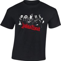 ingrosso le t-shirt di rock band-T-shirt da uomo Rock Band Tee Judas Priest Rock Metal 100% cotone pesante manica corta Tee Euro taglia S-3XL