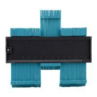 5inch Contour Profile Gauge Tiling Laminate Tiles Edge Shaping Wood Measure Ruler ABS Contour Gauge Duplicator support Wholesale