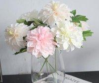 ingrosso piantagione dahlia-Fiore artificiale del fiore di cerimonia nuziale del partito di Dahlia della decorazione della pianta artificiale verde del fiore di multi colori