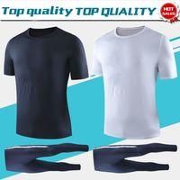 ingrosso stella nero-T-shirt Suit 2019 due stelle maglie da calcio maniche corte 19/20 Sportswear Uomo T-shirt uniformi da calcio nero bianco T-shirt da calcio in vendita