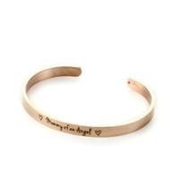 pulseras conmemorativas al por mayor-Moda de letras de acero inoxidable de mamá de un brazalete de ángel infantil pérdida conmemorativa pulsera brazalete de recuerdo regalo