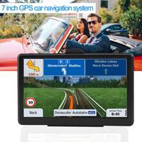 gps güneş güneşlik toptan satış-7-Inch Kamyon Navigator Dokunmatik Ekran GPS Araç Navigasyon Sistemi RAM256M + ROM8GB FM AV-IN Harita Ile SAT NAV Güneşlik