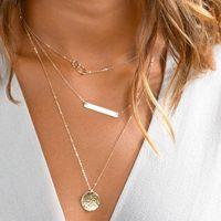 Wholesale bar bijoux resale online - 2017 Multi Women bar Tassel Gold Chain Choker Necklace chocker Jewelry collana Bijoux Femme Joyas mujer Collier ras du cou