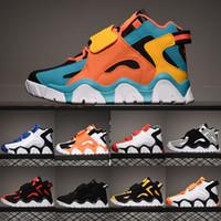 baskets enfants achat en gros de-2020 Mid QS Hommes Barrage enfants Chaussures de basket-ball pour homme Pippen Sneakers Raptors Hyper raisin Rams classique Cabana Uptempo Formateurs 36-45