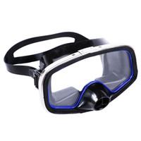 nefes alan yüzme toptan satış-Erkekler Kadınlar Dalış Gözlüğü Ücretsiz Nefes Silikon Şerit Anti Sis Büyük Burun Ayarlanabilir Yüzme Maskesi Geniş Lens Koruyucu Sualtı