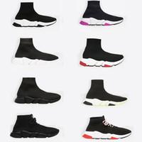 ingrosso calzini da boxe-2019 Designer Sneakers Sock New Paris Speed Trainers sneaker da uomo con tacco alto Scarpe da ginnastica casual con tacco Top di alta qualità