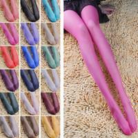 Wholesale hosiery leggings for sale - Group buy Fashion Women Candy Color Leggings Lady Summer Thin Pantyhose Silk Stockings Sheer Tights Slim Hosiery Skinny Socks Sexy Panties TTA521