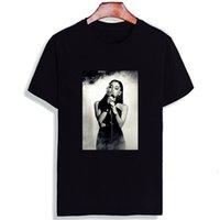grande fashion оптовых-Модная футболка с коротким рукавом Ariana Grande Сексуальная певица с принтом 100% хлопок Топ Тройники Футболка с круглым вырезом Унисекс Футболка для пары