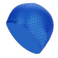 sombrero de natación para niños al por mayor-Gorro de silicona para mujeres, niños, niños, niños, piscina, deportes acuáticos