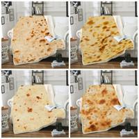 manta de algodón amarilla al por mayor-México Tortilla Manta Pancake 3D Impresión Digital Pad Al aire libre Camping Cuadrado Alfombra Algodón Terciopelo Invierno Mantener caliente 65cs C1