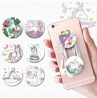 acessórios para celular venda por atacado-Impressão flamingo unicórnio Gafa Telefone Suporte Multi-purpose Criativo Telefone Celular Bracket acessórios dos desenhos animados Titular Redonda gel de Sílica MMA1371