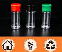 Wholesale spice jars resale online - Plastic Spice Salt Pepper Shakers Seasoning Jar Can Barbecue BBQ Condiment Vinegar Bottle Kitchen Cruet cm