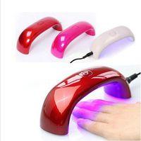 ingrosso colori per lucidare gel per chiodi-Mini USB Nail 9W 3 LED essiccatore UV che cura lampada Gel macchina Nail Polish Nail Polish potente luce della lampada UV Colori asciutto veloce