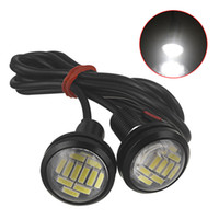 ingrosso occhio di aquila 23mm-1 pz DC 12V Eagle Eye LED Light 4014 12SMD 23MM Daytime Running DRL Luce di backup Car Auto Lampada