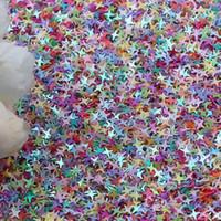 nagel glitzer tasche großhandel-Heißer Verkauf 250g / opp beutel Schillernden 4 Punkt Sternförmige Glitter Slime Sparkles Verschiedene Regenbogen Konfetti Liefert 3D Nail art Decoden
