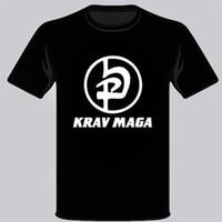 логотипы боевых искусств оптовых-Крав Мага IDF Израиль Боевые боевых искусств Логотип Mens Черная футболка