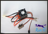 Wholesale rc boat speed controllers for sale - Group buy A brush ESC with fan for RC MODEL CAR boat high work voltage V