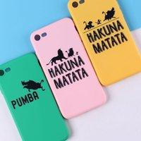 iphone telefonkasten löwenkönig großhandel-Für Iphone 11 Pro Xs Max Xr Lion King Phone Case 6 7 8 X Plus Wildschwein All-Inclusive Soft Cell Phone Cases