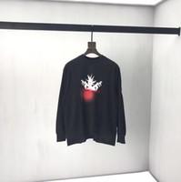 modelos de jaqueta venda por atacado-T-shirt de mangas compridas homens e mulheres solta camisa de algodão em torno do pescoço hem hem sweater irregular modelos de cooperação juventude jaqueta estudante 2019
