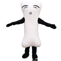 Wholesale anime skeleton costume online - Halloween Bone Mascot Costume Cartoon skeleton Anime theme character Christmas Carnival Party Fancy Costumes Adult Outfit