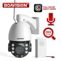 Wholesale cctv video ptz resale online - 2019 NEW HD MP Wireless PTZ Dome IP Cam WIFI X Optical Zoom Outdoor Security Video CCTV Cam Two Way Audio White Light M IR